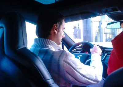 Tesla model S P100D performance test drive 3 Federico Bidoli